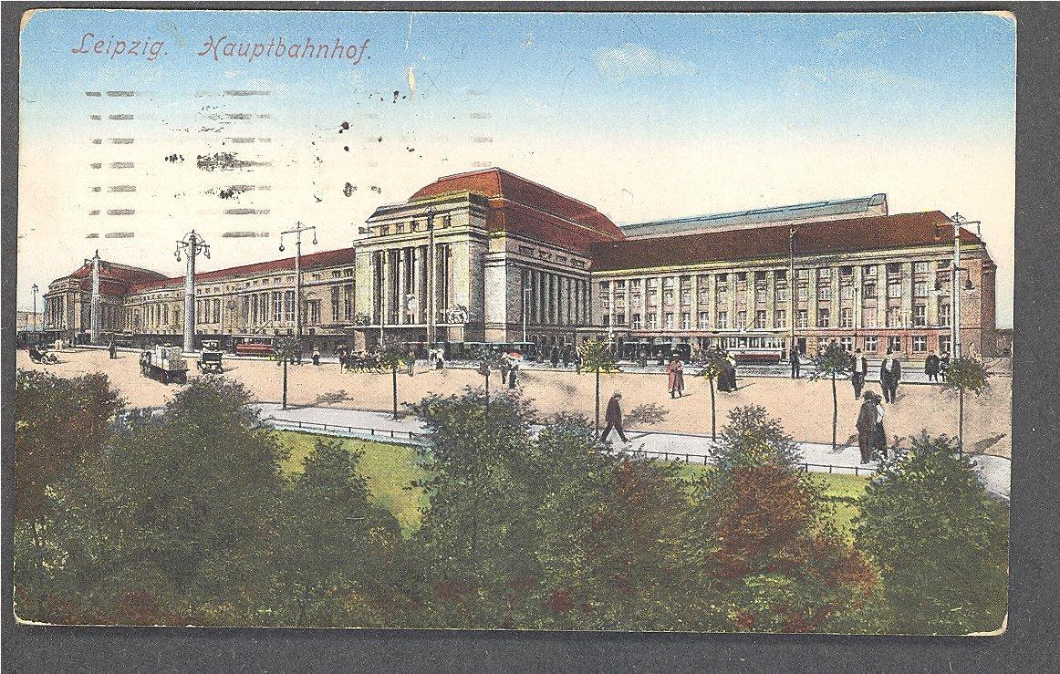 Leipzig 1923 Hauptnahnhof (1915)