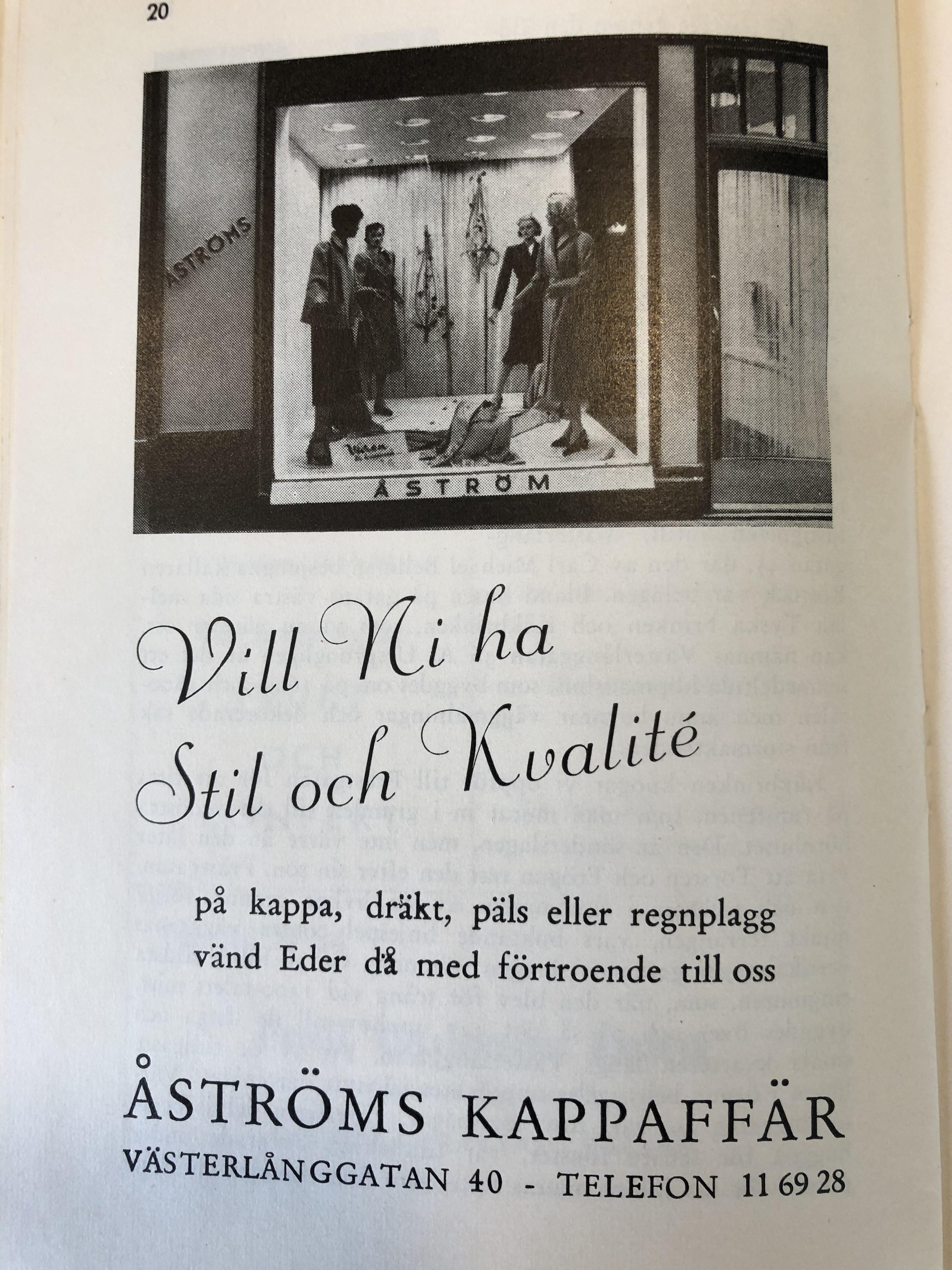 Åströms kappaffär 1950